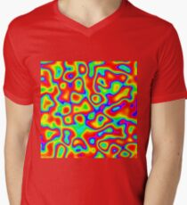 Rainbow Chaos Abstraction II V-Neck T-Shirt