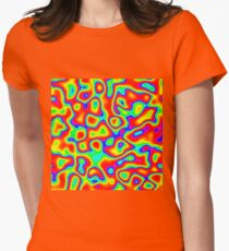 Rainbow Chaos Abstraction II Fitted T-Shirt