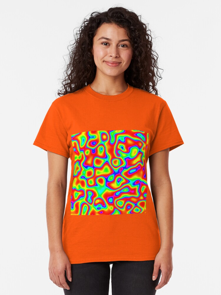 Alternate view of Rainbow Chaos Abstraction II Classic T-Shirt