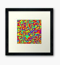 Rainbow Chaos Abstraction II Framed Print