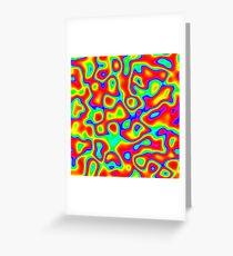 Rainbow Chaos Abstraction II Greeting Card