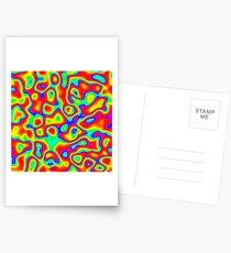 Rainbow Chaos Abstraction II Postcards