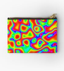 Rainbow Chaos Abstraction II Zipper Pouch