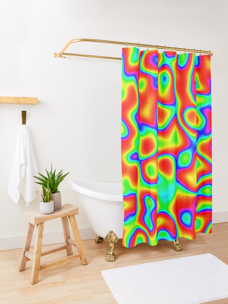 Alternate view of Rainbow Chaos Abstraction II Shower Curtain