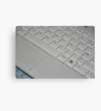White Keyboard Canvas Print