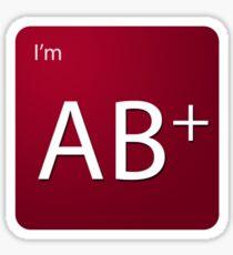 Blood Type - AB positive Sticker