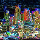 Las Vegas - City Mosaics Series by William R. Bullock