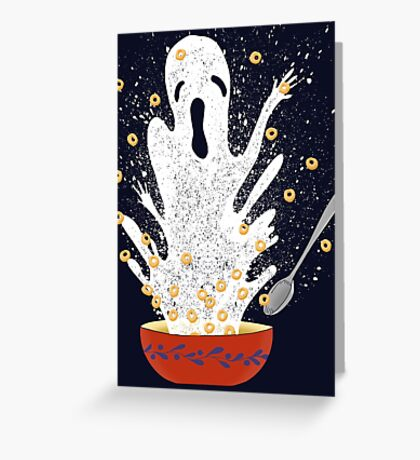 Haunted Breakfast Greeting Card