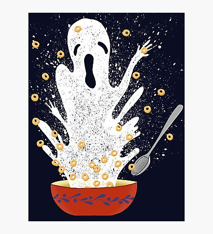 Haunted Breakfast Photographic Print
