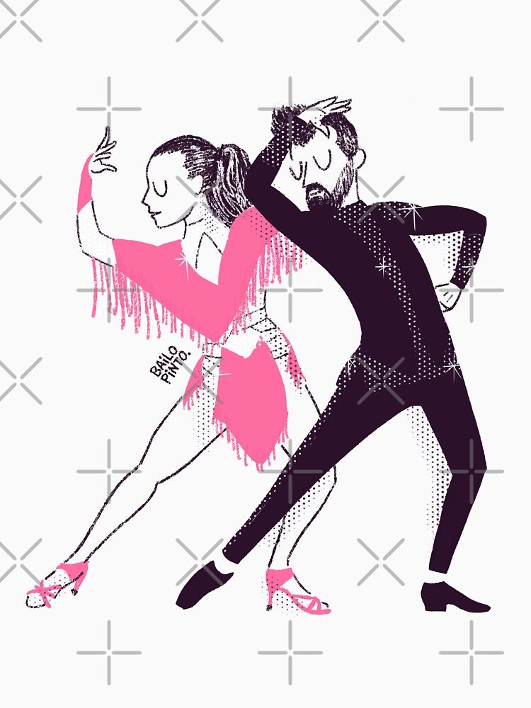 Bailarines de mambo en un show de bailopinto