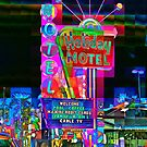 Las Vegas Motel - City Mosaics Series by William R. Bullock