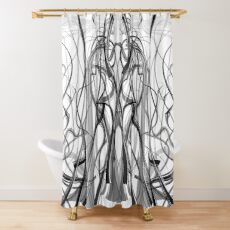 Mathengyger The Warrior, The Disciple and the Crucible of the Witness Shower Curtain