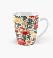 Protea Chintz - Grey & Red Tall Mug