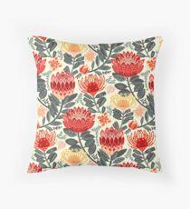 Protea Chintz - Grey & Red Floor Pillow