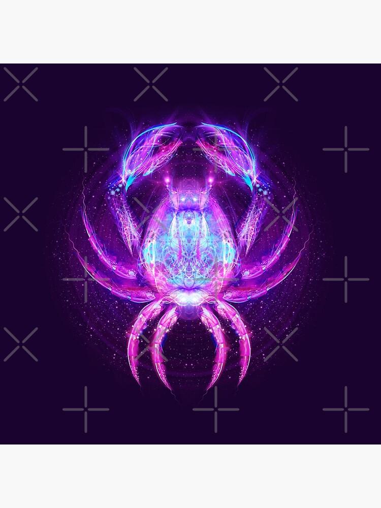 Cancer Zodiac Lightburst by ifourdezign