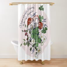 It Takes Strength and Bravery to be Soft and Sensitive Shower Curtain