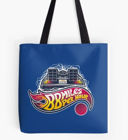 Hot Wheels to the Future Tote Bag