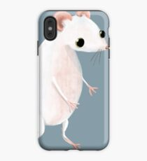 Cute little white mouse iPhone Case