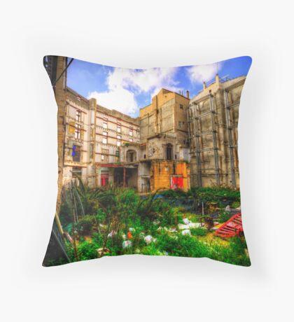 Behind the Facade Throw Pillow