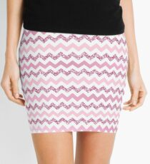 Chevron Pink Zigzag Mini Skirt
