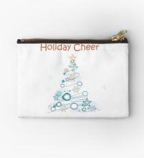 Holiday Cheer Christmas Tree Zipper Pouch