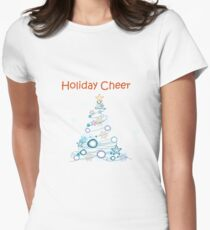 Holiday Cheer Christmas Tree Fitted T-Shirt
