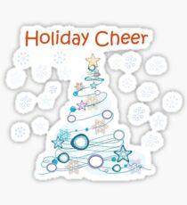Holiday Cheer Christmas Tree Glossy Sticker
