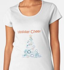 Holiday Cheer Christmas Tree Premium Scoop T-Shirt