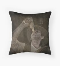 The last chance saloon Throw Pillow