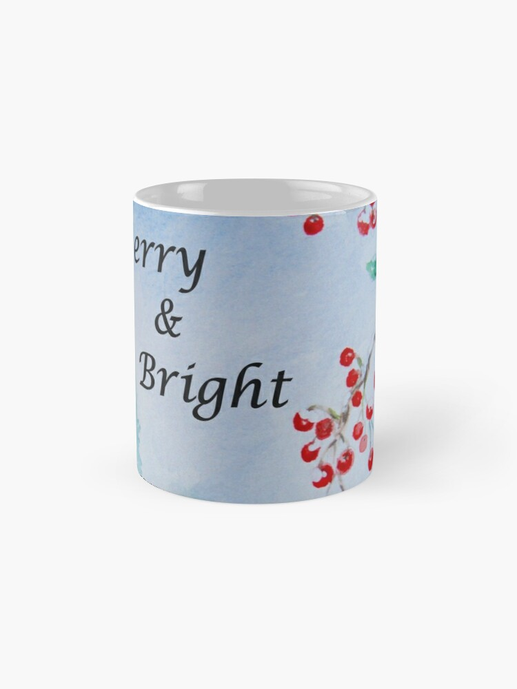 Alternate view of Merry & Bright - Snow on the Berries Mug