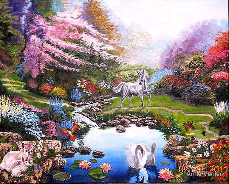 Quot Bayleigh S Fantasy Garden Quot By Anne Venier Redbubble