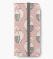 Le renard et la fleur de lotus Étui portefeuille, coque et skin adhésive iPhone