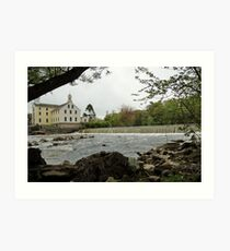 Slater Mill and Dam Art Print