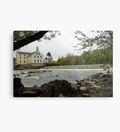 Slater Mill and Dam Metal Print