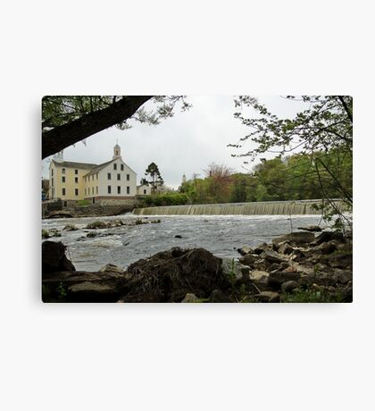 Slater Mill and Dam Canvas Print