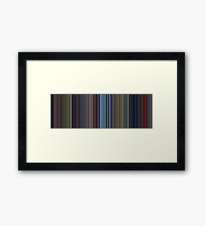 Moviebarcode: Bambi (1942) [Simplified Colors] Framed Print