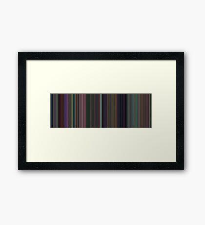 Moviebarcode: Alice in Wonderland (1951) [Simplified Colors] Framed Print