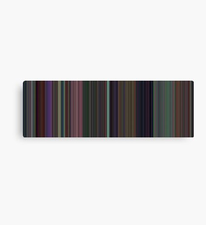 Moviebarcode: Alice in Wonderland (1951) [Simplified Colors] Canvas Print