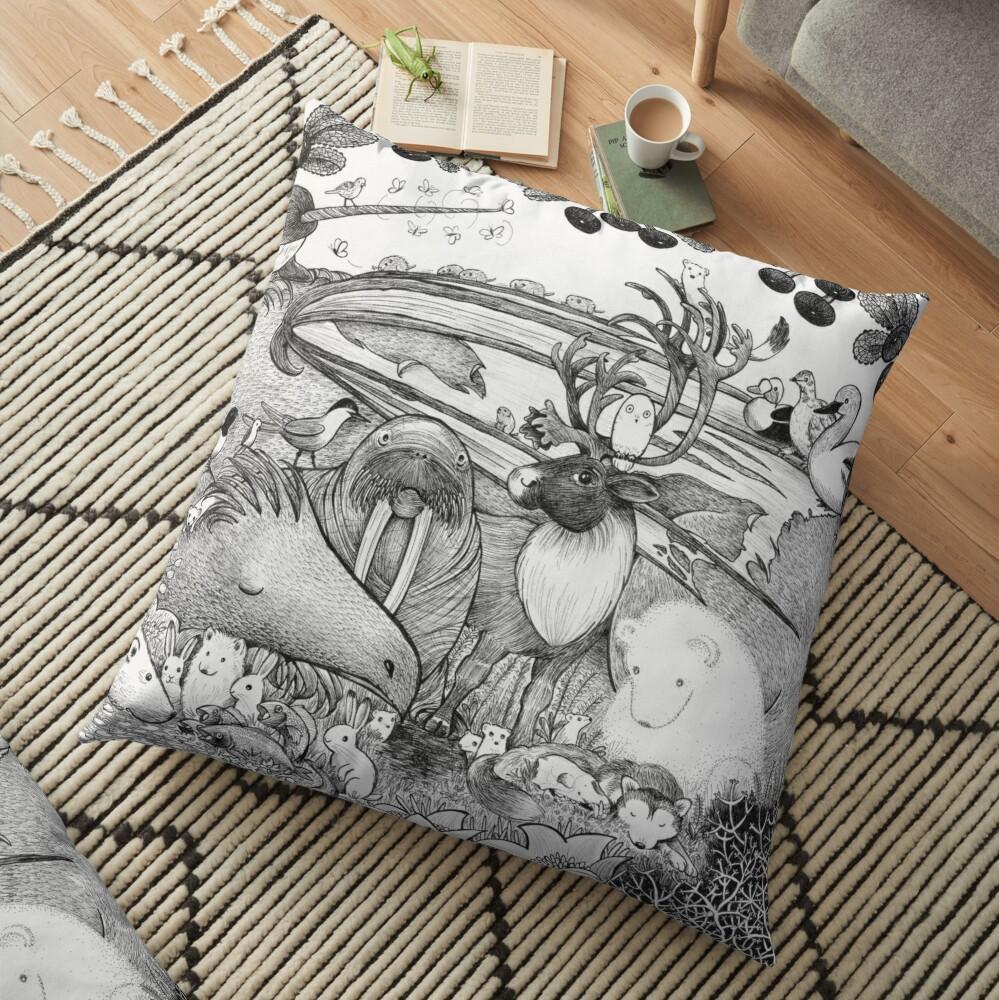 Arctic Circle Floor Pillow