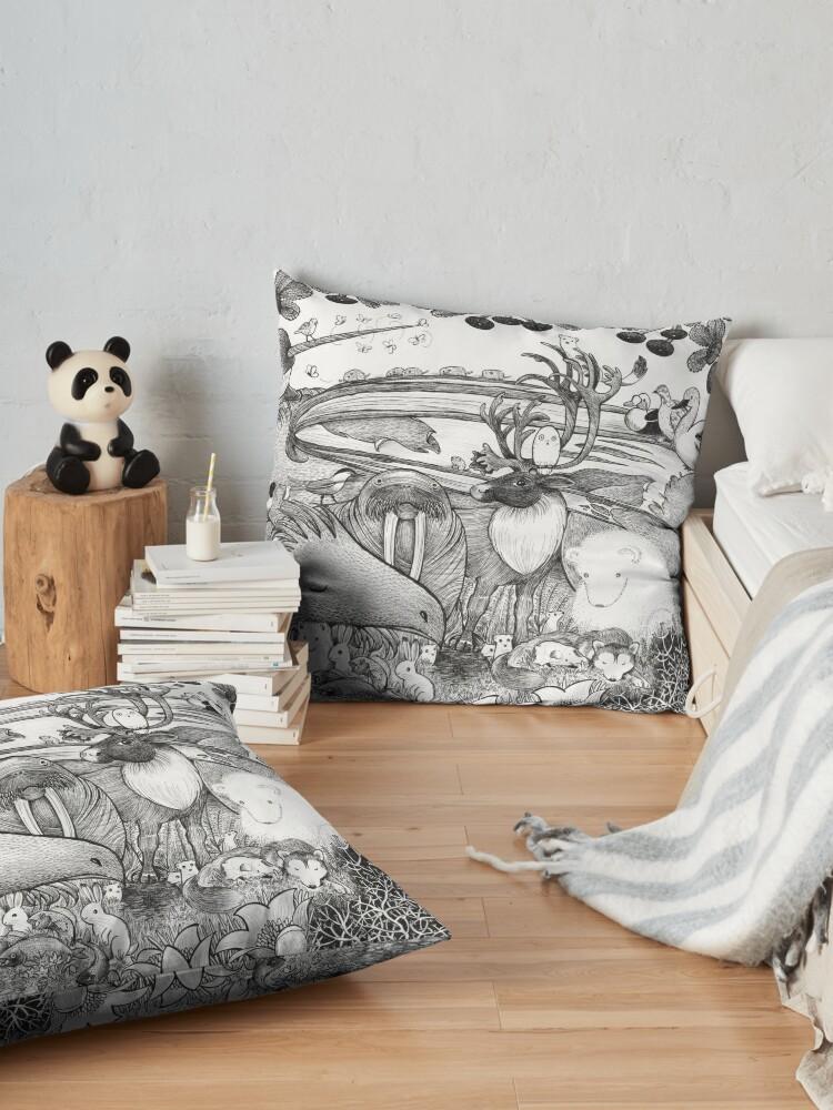 Alternate view of Arctic Circle Floor Pillow