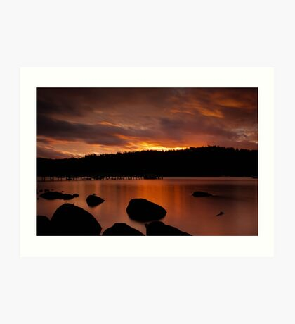 Norfolk Bay Sunset Art Print