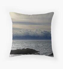 Winter Sea, Winter Sky Throw Pillow