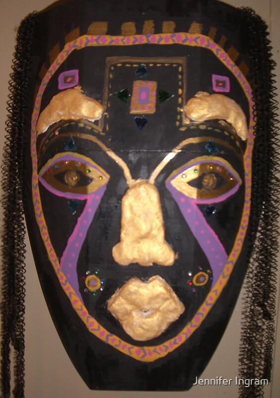Quot Female African Warrior Mask Quot By Jennifer Ingram Redbubble