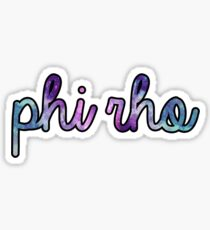Phi Rho Galaxy Sticker