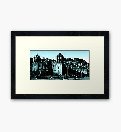 La Catedral de Cuzco (c. 1539) Framed Print