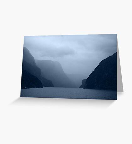 { mystical milford sound } Greeting Card