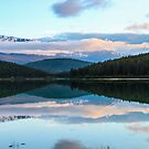 Sunset over Patricia Lake by hummingbirds
