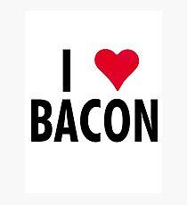 I Heart Bacon!! Photographic Print