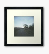 walking up the trail. Framed Print