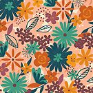 Floral Explosion - Groovy Hues by latheandquill